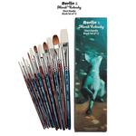 Berlin & Mimik Kolinsky Short Handle Mixed Brush Set