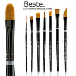 Beste Superior Golden Taklon Hair Brushes