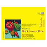 "Strathmore 300 Series Black Canvas Pad 12 x 16"""