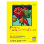 Strathmore 300 Series Black Canvas Pad 9 x 12""