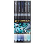 Chameleon Marker Set Of 5 - Blue Tones