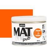 Pebeo Acrylic Mat Pub 500ml - Bright Orange