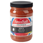 Speedball Acrylic Screen Printing Ink 32 oz Jar - Brown