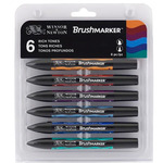 Winsor & Newton BrushMarker Rich Tones Set of 6