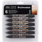 Winsor & Newton BrushMarker Skin Tones Set of 6