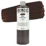GOLDEN Fluid Acrylics Burnt Umber Light 16 oz