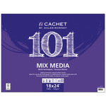 Cachet 101 Mixed Media Pad (20 Sheets Tapebound, Top Bound/Landscape) 18x24""