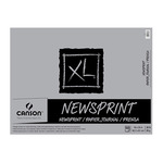 "Canson XL Rough Newsprint 18x24"" (100 Sheets - Tape Bound)"