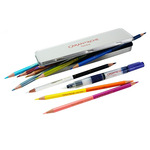 Caran d'Ache Bicolor Watercolor Pencil Tin Set of 10 (20 Colors) + Waterbrush