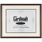 Cardinali Diploma Frame Black/Gold 11X14in. Acid-free Mat+Uv Glass