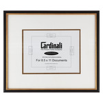 Cardinali Diploma Frame Black/Gold 8.5X11in. Acid-free Mat+Uv Glass