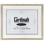 Cardinali Diploma Frame Silver 11X14In. Acid-free Mat+Uv Glass