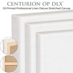 Deluxe Professional Oil Primed Linen Stretched Canvas Centurion (OP DLX)