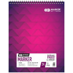 Chartpak 175 GSM AD Marker Ink Block 14x17in, 24 Sheet In/Out Pad