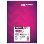 Chartpak 175 GSM AD Marker Ink Block Panel Pad 7x10in, 24 Sheet
