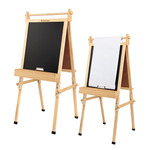 """Kids Art Easel with Paper Roll, Dry Erase & Chalk Board Fundamentals 36.5""""- 51"""""""