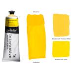 Interactive Professional Acrylic 80 ml Tube - Trans. Yellow