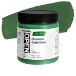Golden Open Acrylic 4 oz Jar - Chromium Oxide Green