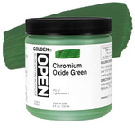 GOLDEN Open Acrylic Paints Chromium Oxide Green 8 oz