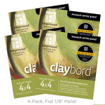"4-Pack Claybord Smooth Panel 1/8"" 4X4"