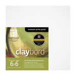 "4-Pack Claybord Smooth Panel 1/8"" 6X6"