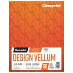 Clearprint 1000H Design Vellum Pad 8.5X11 16lb/60GSM 50 Sheets