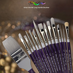 Silver Silk 88™ Short Handle Synthetic Brushes
