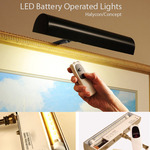 """Cordless LED Picture Frame Lighting 11 1/2"""" & 7 3/4"""" by Concept"""