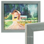 """Country Chic Dixie Grey 8x10in 1.5"""" Wood Frame with 2mm glass and cardboard backing"""