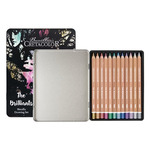 Cretacolor Megacolor Pencil Tin Set of 12 Metallic Colors