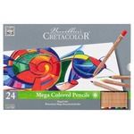 Cretacolor MegaColor Colored Pencil Set of 24 Colors