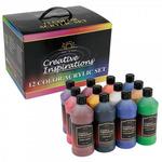 Creative Inspirations Acrylic Paint Value Set of 12 16oz Bottles Box Set