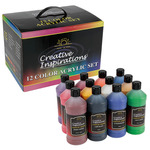 Creative Inspirations Acrylic Color Studio & School Value Pack of 12 Bottles