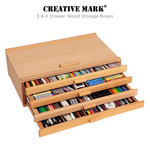 Creative Mark 3 & 4 Drawer Wood Storage Boxes