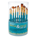 Creative Mark Artist Brush Crate Set w/ 18 Short Handle Brushes
