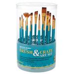 Creative Mark Artist Brush Crate Set w/ 18 Short Handle Brushes