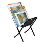Folding Canvas Print Rack Mini Black