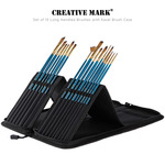 Creative Mark Brushes Set of 15 with Brush Easel Case