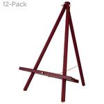 12-Pack Table Top Display Easel Mahogany Wood-Thrifty Creative Mark