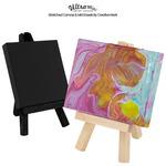 Ultra Mini Stretched Canvas & Mini Easels by Creative Mark