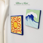 Mini Magnetic Square Paintable White Canvas Packs
