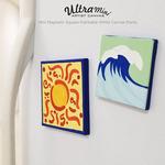 Mini Magnetic Square Paintable White Canvas Packs