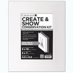 """Crescent Create and Show Conservation Kit 8x10"""" (Opening 4.5 x 6.5"""") - Super White"""