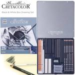 Cretacolor Black & White Box Drawing Sets of 25
