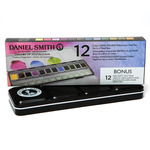 Daniel Smith Watercolor Half Pan Inspiration Metal Box Set (12 Colors + 12 Empty Pans)