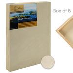 "Da Vinci Pro Birch Wood Painting Panel 1-5/8"" Panel (Box of 6) 5x5"""