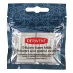 Derwent Battery-Operated Eraser Refills Pack of 30