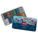 Derwent Inktense Blocks Tin Set of 36 - Assorted Colors