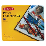 Derwent Pastel Pencils Pastel Collection Tin Set of 24 - Assorted Colors