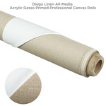 Diego Linen All-Media Acrylic Gesso Primed Professional Canvas Rolls